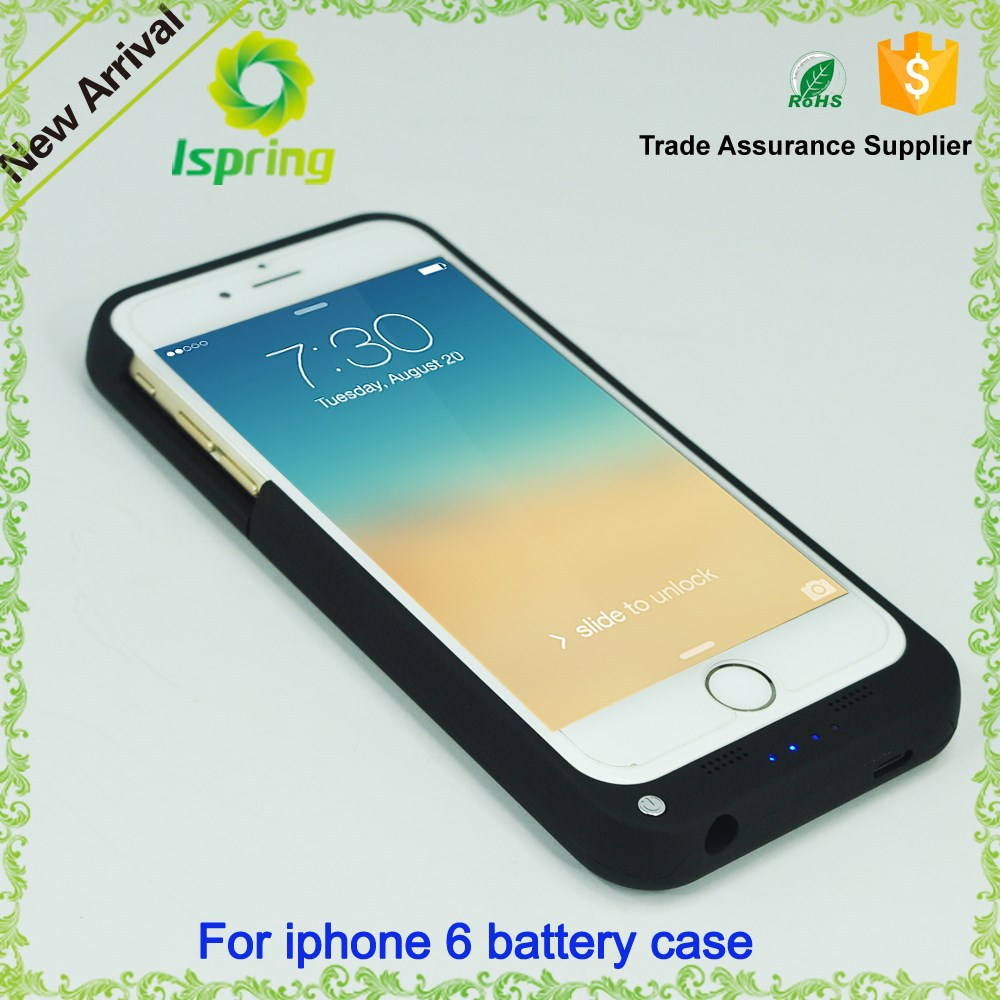 New 3000mAh Rechargeable External Battery Backup Charger Case Cover Pack Power Bank Fits for Apple iPhone 6s