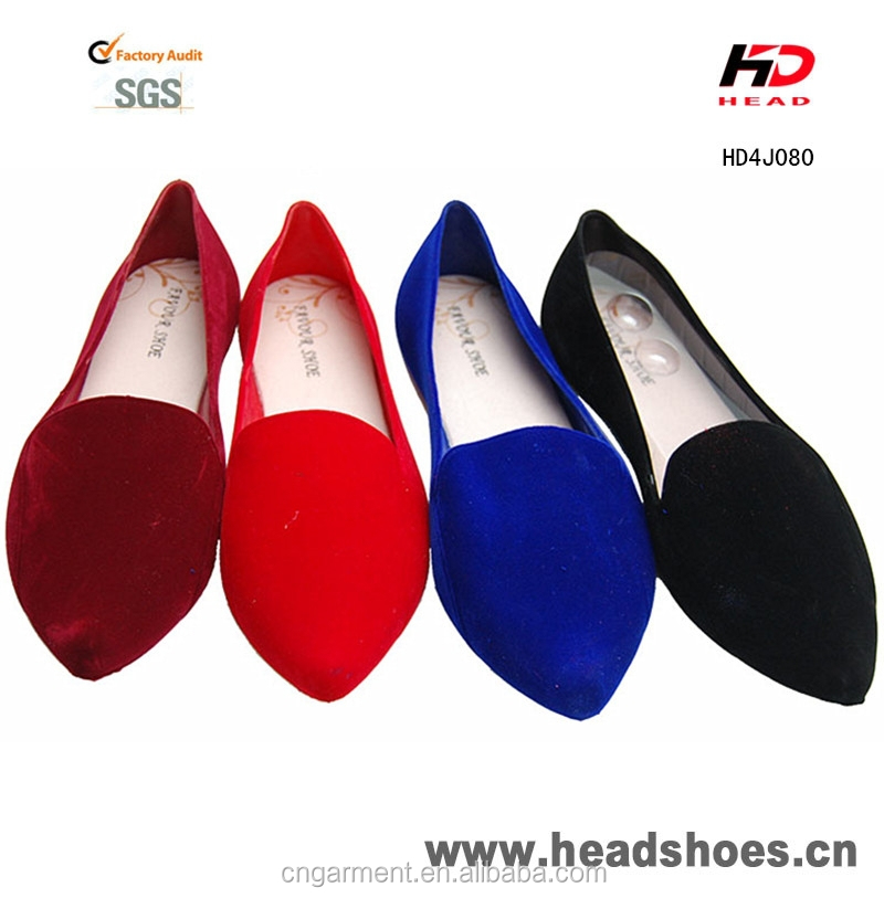 2016 Flocking wholesale pvc jelly casual ladies flocking flat shoes