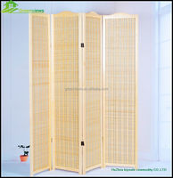 Bamboo newly wooden venetian Folding Screen Room Divider Pine Wood Frame with Bamboo Strips Screen GVSD035
