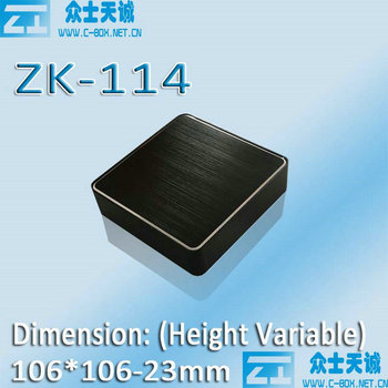 ZK-114-4/ 106*106*23mm square splite Aluminum wifi Router / Player Shell/Controller Shell/ metal media enclosure