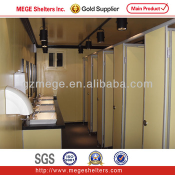 Modified shipping container public toilet view container for Shipping container public bathroom
