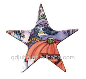Sublimation polymer Star Christmas tree decorations