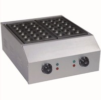 electric commerical two cast irons , bigger size 4.5cm holes takoyaki maker, electric takoyaki maker/ Octopus ball maker