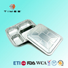 Compartmental Food Aluminium Foil container with lid