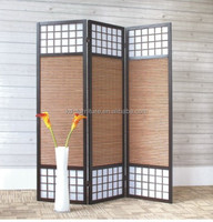 classical design wooden folding screen room divider
