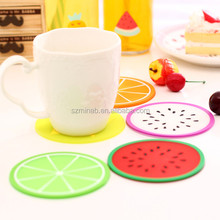 Wholesale colorful fruit shape silicone heat resistant cup coaster table mat manufacture