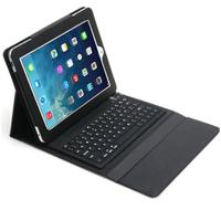 Hot selling New! Fashion Super NEW Bluetooth Silicone Keyboard Stand Leather Case Cover For iPad Air 2 Case