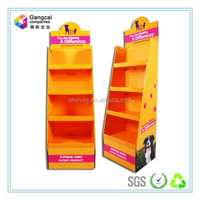 shoes cardboard display rack for store