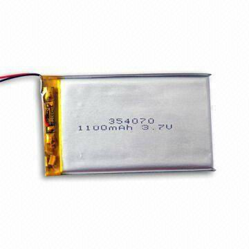 hot sale lp354070 1100mAh 3.7V lipo battery small lithium battery solar cell for blood glucose meter