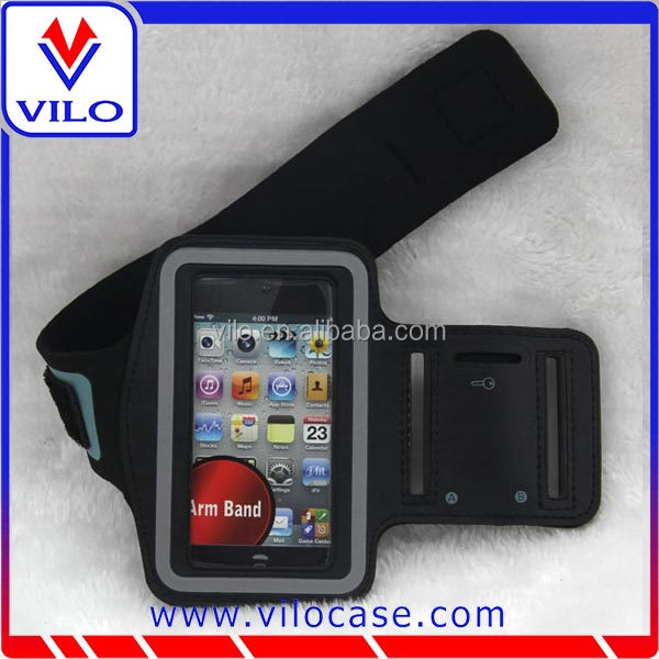 High quality sports armband, mobile phone Sport Armband Case with Key Holder and Headphone Jack