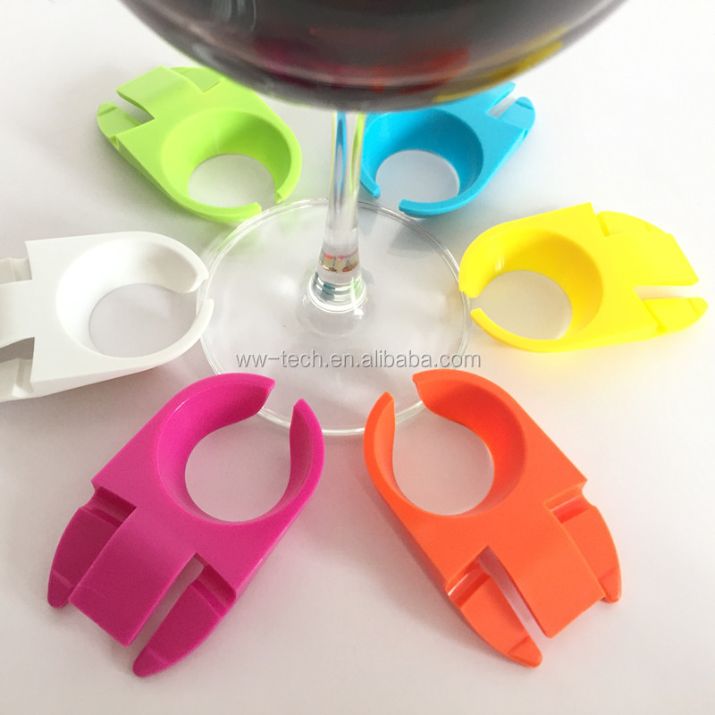 Plastic Vino <strong>Wine</strong> Glass Holder Plate Clip