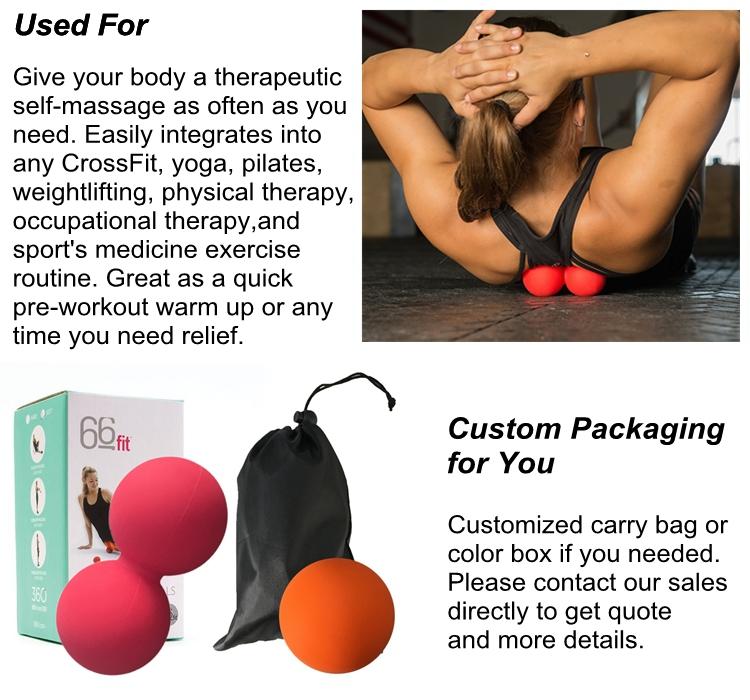 2016 hotsale lacrosse ball massage Silicone Peanut massage Ball