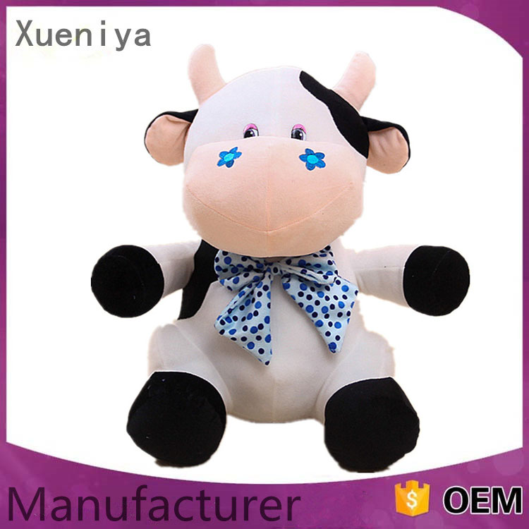 2016 Factory Supply Children Safety Custom Stuffed Animal Toys Plush Cow