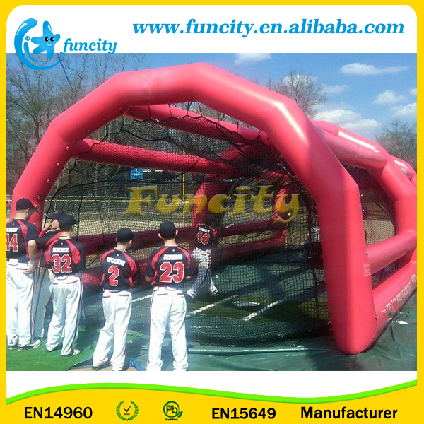 0.6mm PVC Tarpaulin Inflatable Baseball Sport Games Inflatable Batting Cage