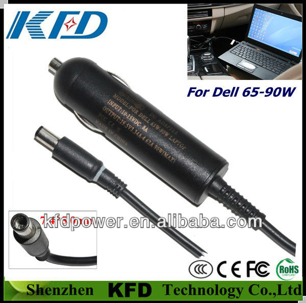 manufacture Car charger for Dell 65W 90W