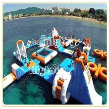 china supplier inflatable floating water park, giant inflatable water park games for adults