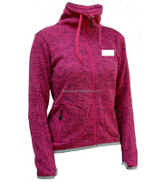 women's outdoor leisure polyester fleece knitted jacket