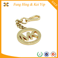 High quality real gold metal logo tag for handbags metal handbag tag handbag hardware logo metal logo tag