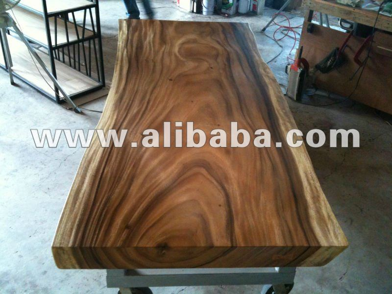 Acacia Solid Slab Wood 2 Meter Dining Table