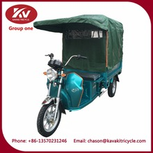 800W motor power goods carrier heavy duty electric tricycle with tarpaulin