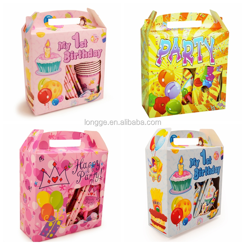 Six-piece Kids birthday party decorations-wholesale theme party supplies sets