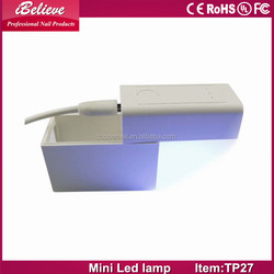 Cute Protable mini quick gel uv led nail lamp led ultra violet light