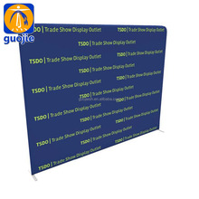 Exhibition display Curved stretch fabric backdrop display