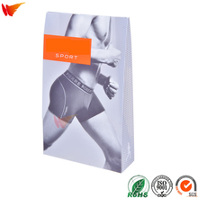 wanli brand custom mens underwear packaging plastic clear pvc box
