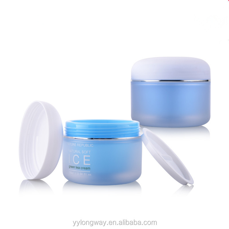 30g good looking mini cute cosmetic empty cream jar PP blue and green