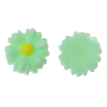 Embellishments Findings Daisy Light Green Handmade Resin Flower Cabochons
