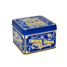 square biscuit tin box/ metal cookie tin with lids
