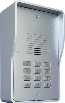 3G PIN code backlit keypad intercom GSM door phone gate remote control via call SMS for apartment or flats 5558