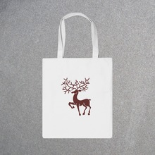 Custom cotton canvas shopping bag for gift