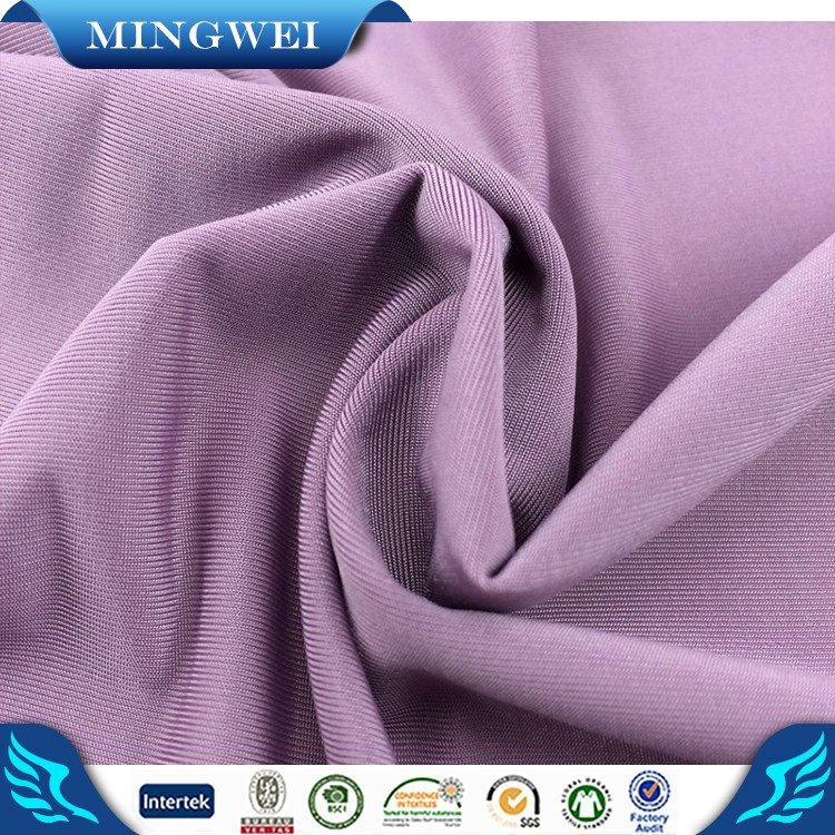 Micro 92 Nylon 8 Spandex Stretch Knitted Fabric Weft Knitted for Swimwear Underwear