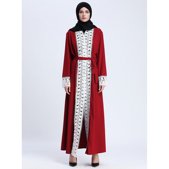 Hijab abaya long women party lady muslim fashion maxi dress