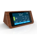 Air Quality Monitor PM2.5 Temperature Rh Humidity Meter with Time for Home Office School Hospital