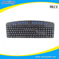 Standard style mini multimedia wired keyboard