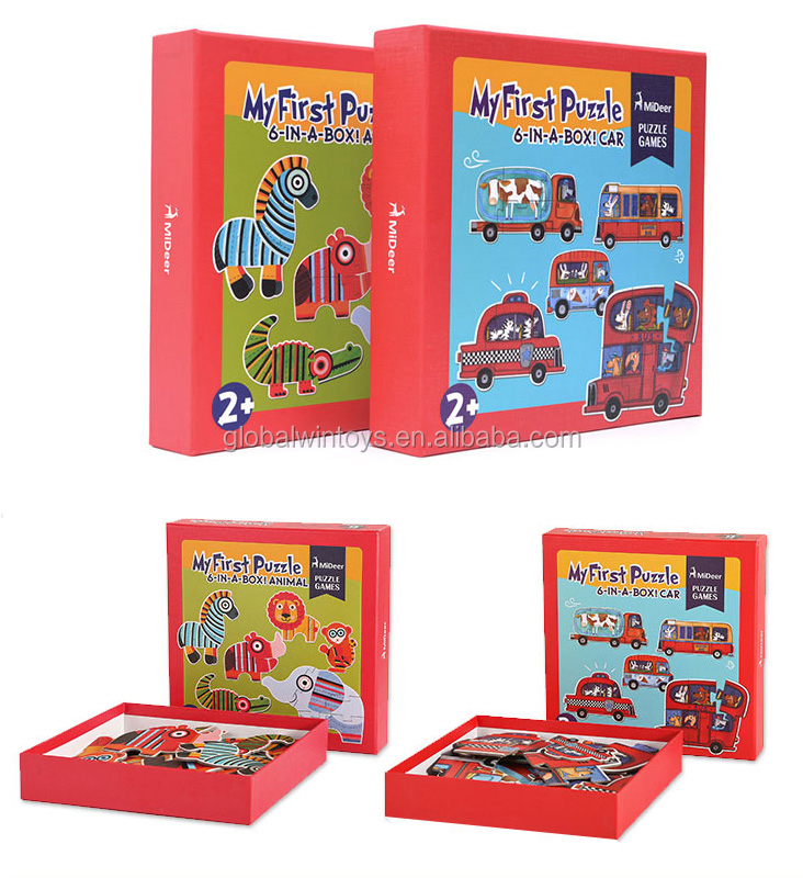 MIDEER kids puzzle my first puzzle earlier-educational imitate wooden puzzle for childrens gift