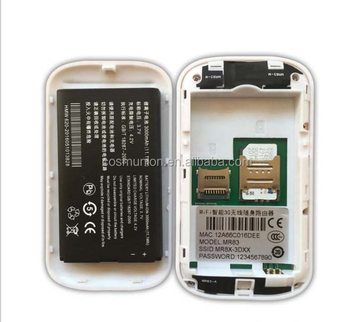 3000mAh battery 3g evdo router with sim card slot