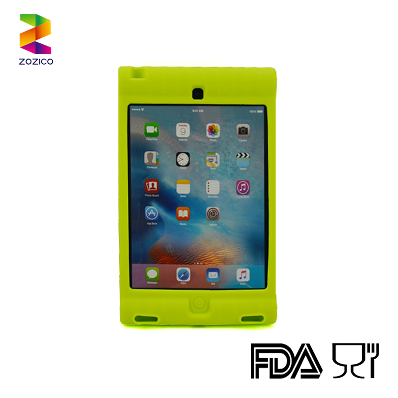 Case for Apple ipad mini 4 silicone back cover tablet PC case shell with stand