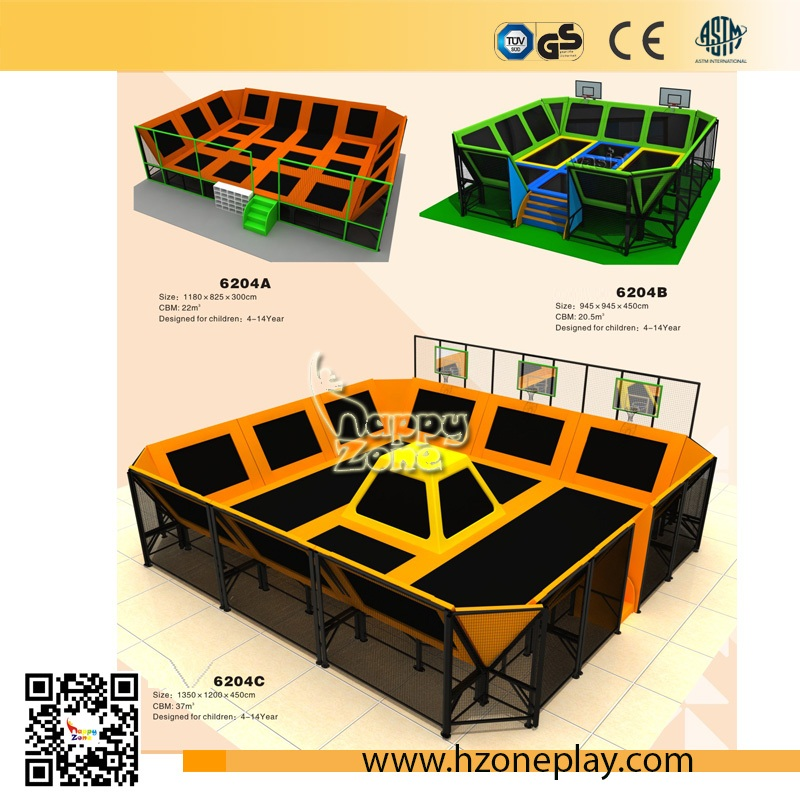 Smal Sized Free Jumping Trampoline Structure and Indoor Trampoline Area for Children Amusement Park