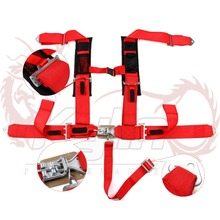 "Kylin racing 12Pro Armor Seat Belt Harness 5 Point 3"" RED Padded Polaris Racing Car Seat Safety Belt"