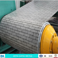 wood /stone /brick pattern design prepainted/color coated ppgi/ppgl steel coil