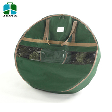 Durable Zippered Storage Bag for Christmas Wreath with reinforced handle