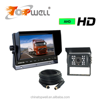 Rear view system with 7 Inch LCD Digital monitor & IP 68 IR LED Rear View camera