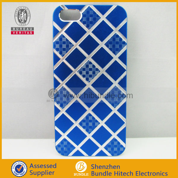 "Electroplating Aluminum Metal case for iphone 5"" accessories"