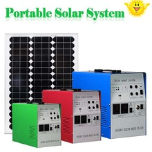 300w 220v solar energy storage system with led light