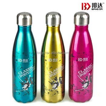 FDA/LFGB/SGS certification stainless steel cola bottle 1000ml