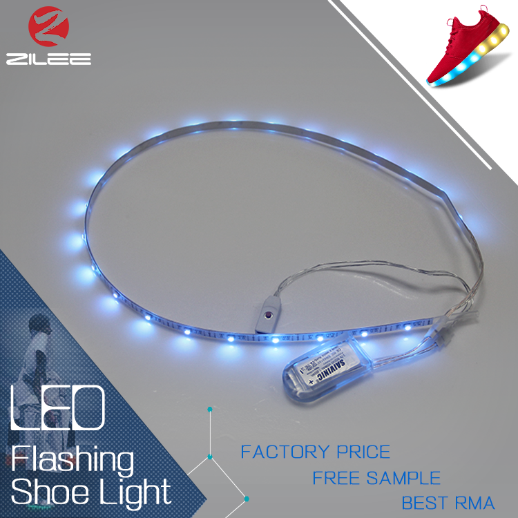 Wholesale color changing rgbw USB charge shoes led strip light for sole