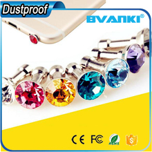 Cheap Price Phone Accessory Anti Dust Plug Ear Cap Headset Stopper,Crystal Diamond Headset Stopper